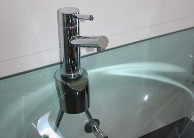 Master ensuite glass sink
