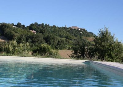 View of local village from pool